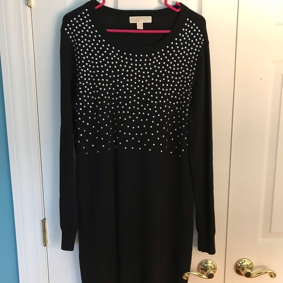 Michael Kors Dresses & Skirts - Michael Kors sweater dress w/ silver grommet beads